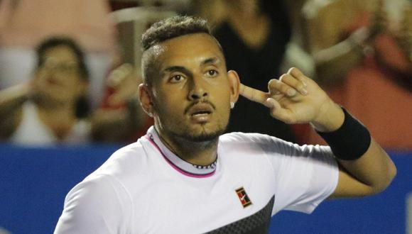 Nick Kyrgios venció a Rafael Nadal en los octavos de final del ATP de Acapulco, en un partido en el que el accionar del australiano molestó al español. (Foto: EFE)
