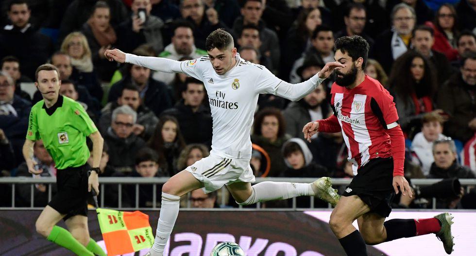 Federico Valverde (21 años, contrato hasta 2025) el 'Pajarito' que hizo a Zidane olvidarse de Pogba y que cuesta 800 'kilos'. ¿Hay duda de su continuidad? (Foto: AFP)