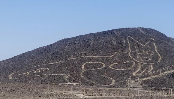 La figura mide 37 metros de largo, visto en forma horizontaL. (Foto: Presidencia)