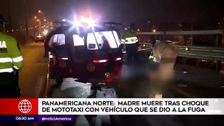 Una madre murió tras choque de mototaxi con auto que se dio a la fuga
