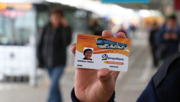 La tarjeta escolar es de uso personal e intransferible. (Municipalidad de Lima)