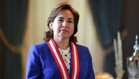 """La titular de la Corte Suprema, Elvia Barrios, pidió a la ciudadanía tener """"confianza en las instituciones"""" de cara al bicentenario de la Independencia. (Foto: Nancy Chappell)"""