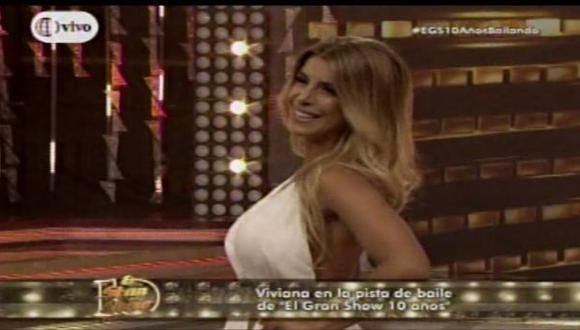 El gran show: Viviana Rivasplata fue presentada como bailarina