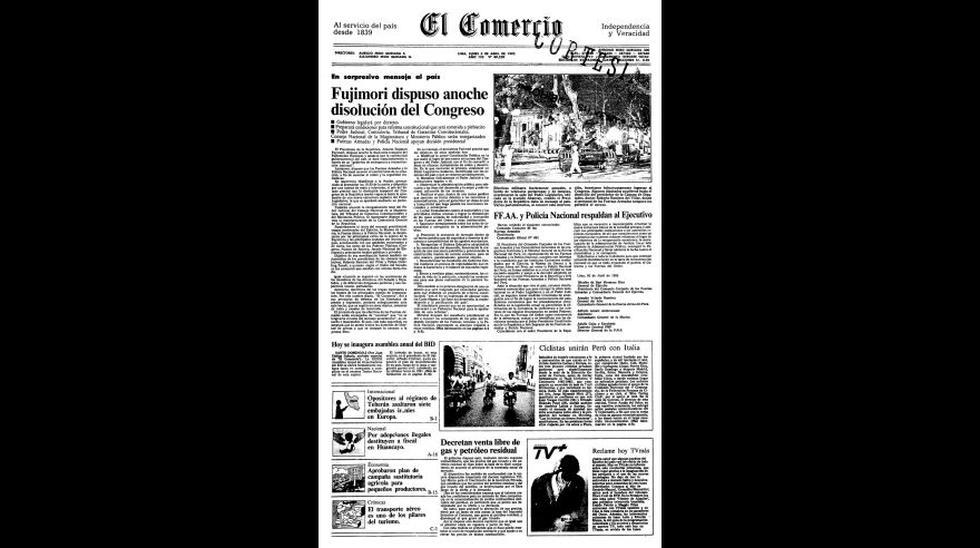 El Comercio cumple 177 años: mira las portadas más memorables - 9