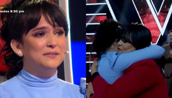 """Madre de Daniela Darcourt sorprendió a la salsera en """"La Voz Senior"""". (Foto: Captura Latina)."""