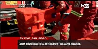 Coronavirus en Perú: 64 compañías de Bomberos reciben donación de 10 toneladas de alimentos