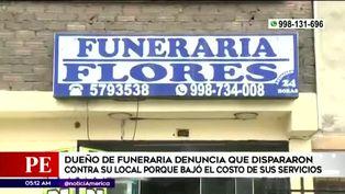 Funeraria fue atacada a balazos, dueño sospecha de comerciantes del mismo rubro