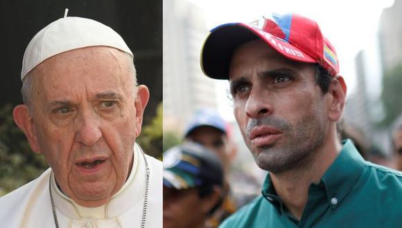Capriles rechaza declaración del Papa sobre la oposición