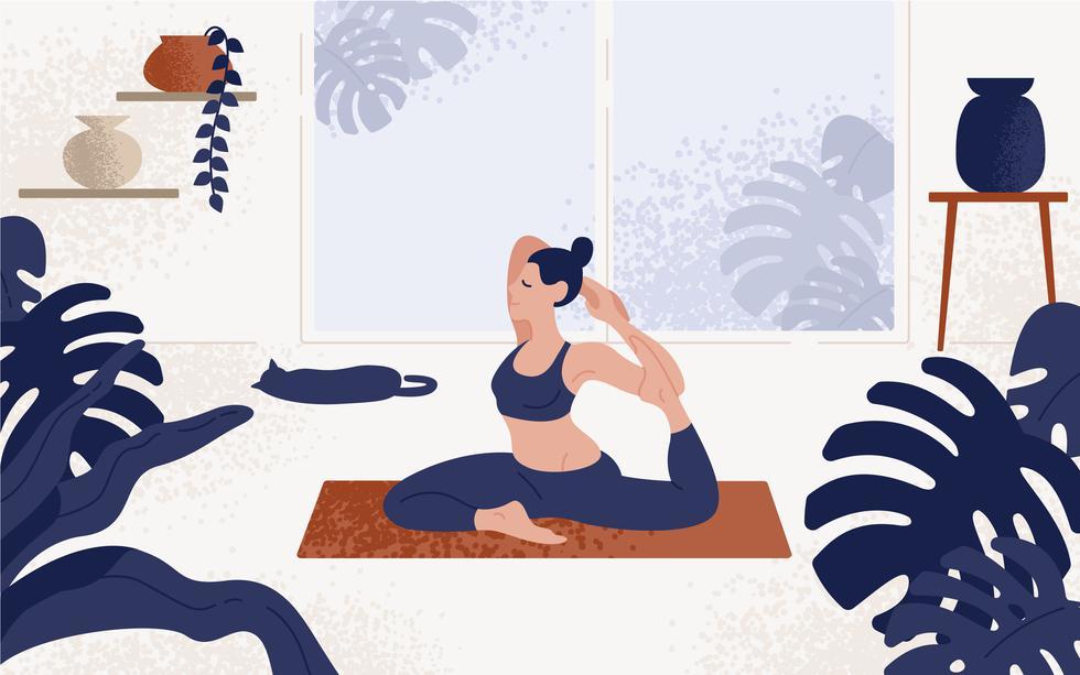 1. Espacio: busca un espacio en el que pueda caber tu cuerpo de manera horizontal. A los lados, también desocupa un nivel prudencial, pues hay posiciones que requieren más libertad. Si tienes un mat de yoga, es hora de desempolvarlo para que lo uses como superficie. (Foto: Shutterstock)
