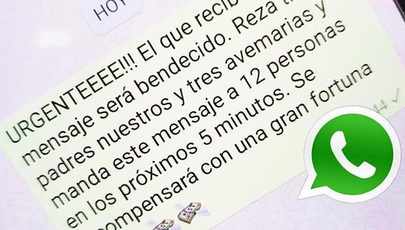 ¿Has recibido alguna cadena de oración en WhatsApp? ¿Se lo has enviado a varias personas? Esto debes saber. (Foto: WhatsApp)