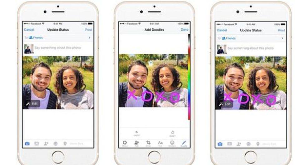 Facebook permitirá 'doodles' para competir con Snapchat