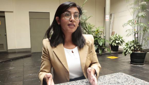 Jessica Ferreñán, vocera de World Vision Perú. (Diana Chávez / El Comercio)