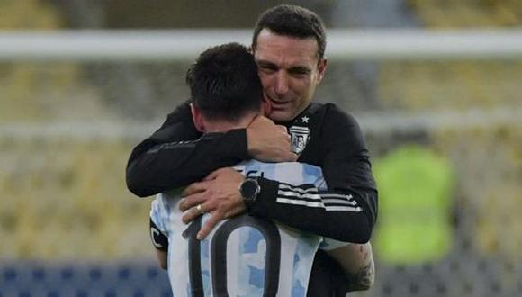 Lionel Messi jugó con molestias físicas ante Brasil, confesó Scaloni. (Foto: AFP)