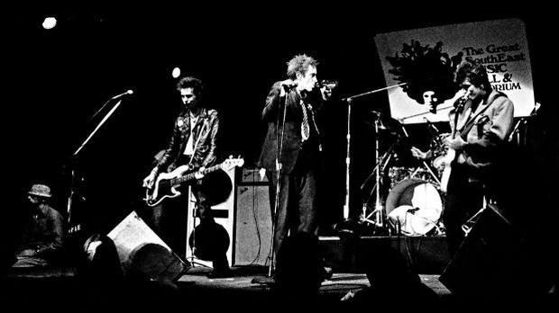 June 1978. The British punk band, Sex Pistols, makes their US debut at a concert in Atlanta, Georgia.  (Photo: AP)