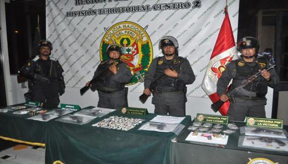 Caen cuatro bandas delictivas en El Agustino y La Victoria