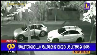 Surco: delincuentes se transportan en autos de lujo y logran asaltar más de 12 veces en 24 horas