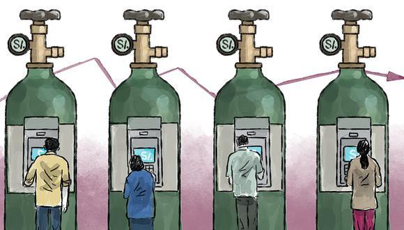 Esta es la historia de cómo la idea para ayudar a un puñado de infectados, acabó en subsidios a 7 millones de hogares y en un desconcierto ideológico.  (Ilustración Víctor Aguilar/El Comercio)