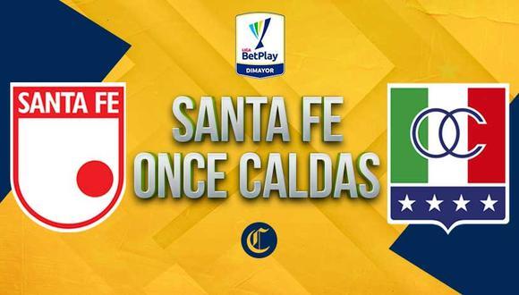 Sigue todas las incidencias entre Santa Fe vs. Once Caldas por la jornada 14 de la Liga BetPlay 2021.   Foto: diseño EC