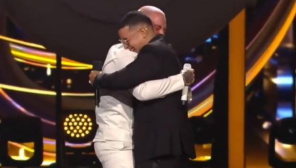J Balvin y Daddy Yankee protagonizaron uno de los momentos más emotivos en la gala de los Premios Lo Nuestro 2020 | Captura de video