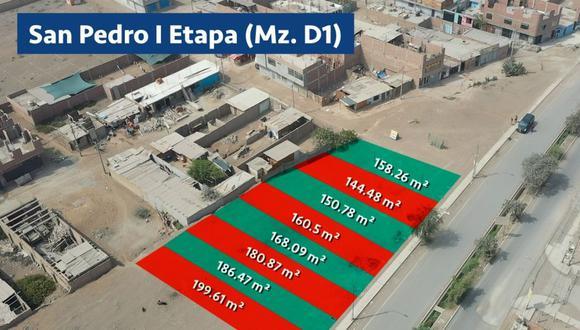 Los terrenos están ubicados en Carabayllo, Ate y El Agustino. (Foto: Serpar)
