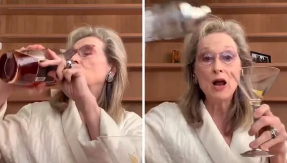 Meryl Streep interpretó una canción de Stephen Sondheim junto a sus amigas y una botella de whisky. (AFP).
