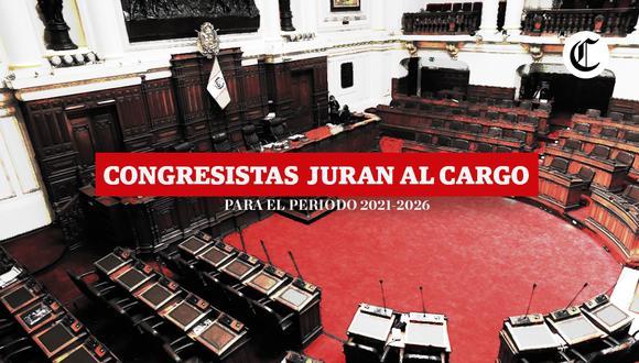 Ceremonia de juramentación de los congresistas elegidos para el período 2021-2026 será este viernes (Composición: El Comercio)