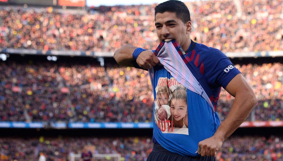 Barcelona vs. Real Madrid: la celebración de Suárez, el enfado de Courtois y el 2-0 blaugrana | VIDEO. (Foto: AFP)