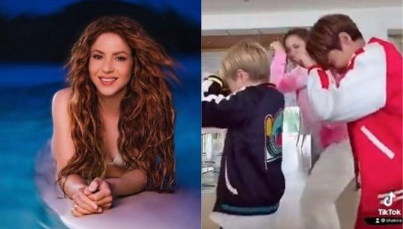 Milan y Sasha, hijos de Shakira y el deportista Gerard Piqué, se ganaron los elogios en redes sociales por su talento para el baile. (Foto: @shakira)