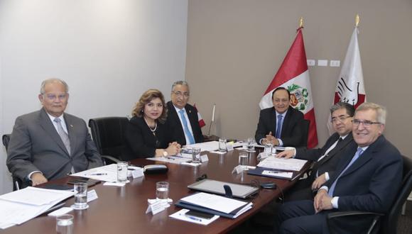 Comisión a cargo de la elección de los miembros de la JNJ . (Foto: Poder Judicial)