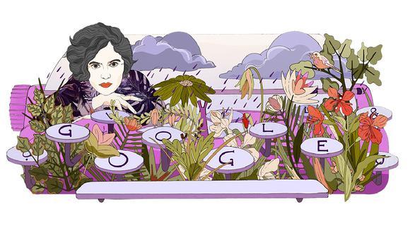 """El doodle de hoy está inspirado en el poema """"Das Bißchen Ruhm"""" (""""Un poco de gloria""""). (Google)"""