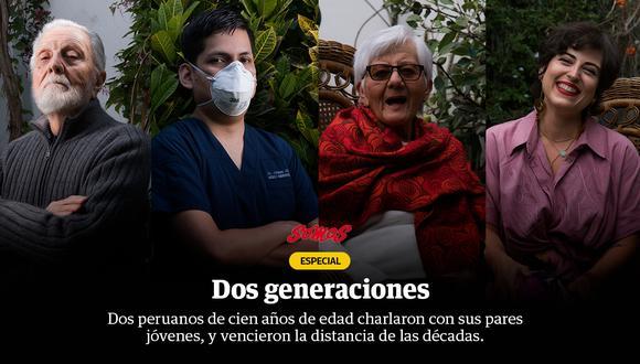 Dos generaciones de peruanos conversan e intercambian ideas sobre el Perú de ayer y hoy.