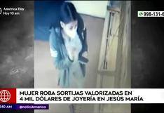 Jesú María: mujer roba sortijas valorizadas en más de 4 mil dólares