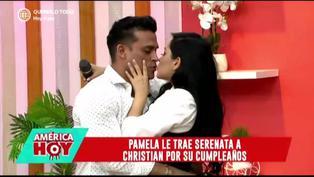 Christian Domínguez llora en vivo tras sorpresa de Pamela Franco por su cumpleaños