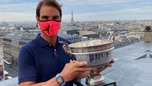 Rafael Nadal no se desprende de su lujoso reloj Richard Mille. (Foto: Agencias)