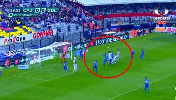 Cruz Azul vs. Chivas: Jesús Corona y la gran reacción para evitar el 1-0 del 'rebaño sagrado' | Foto: Captura