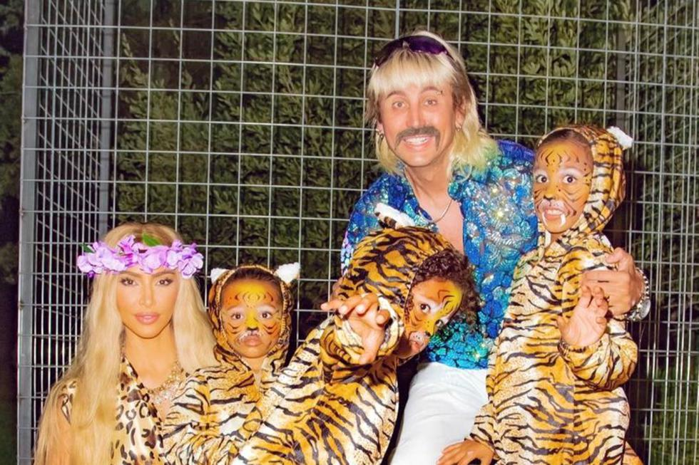 Los famosos no dejaron pasar la oportunidad de divertirse y ser creativos para celebrar Halloween. (Foto: kimkardashian - Instagram)