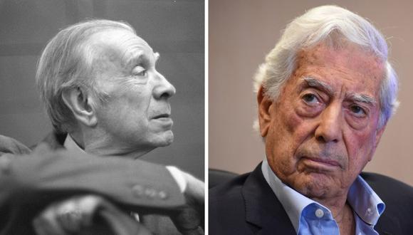Mario Vargas Llosa no solo habla de las dos entrevistas que le realizó a Jorge Luis Borges, sino que intenta reconstruir el mundo que hizo el argentino en sus cuentos. (AFP/ EFE).