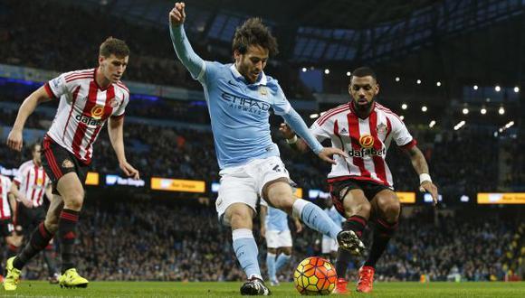 Manchester celebra el día de David Silva con asombrosas jugadas