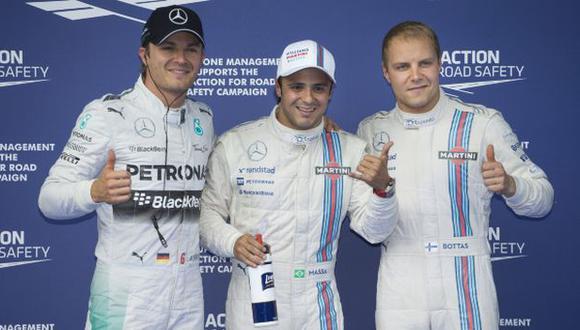 Formula 1: Los dos Williams partirán primeros en Austria
