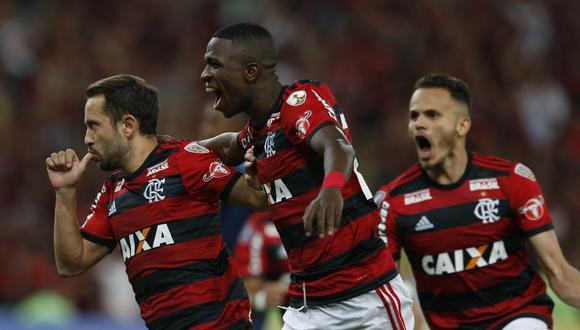 Flamengo derrotó 2-0 a Emelec en Brasil por la Copa Libertadores 2018