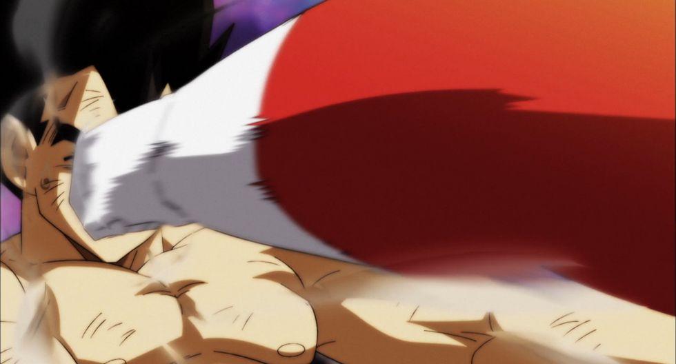 "En ""Dragon Ball Super"" 128, Vegeta usará el escaso poder que le queda para intentar vencer a Jiren. (Foto: Toei Animation)"