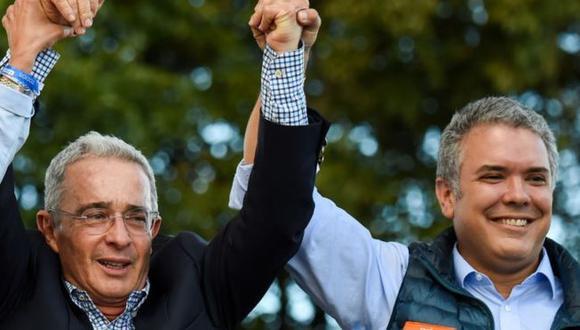 Uribe es considerado el gran promotor de la victoria electoral de Iván Duque en 2018. Foto: Getty Images, via BBC Mundo