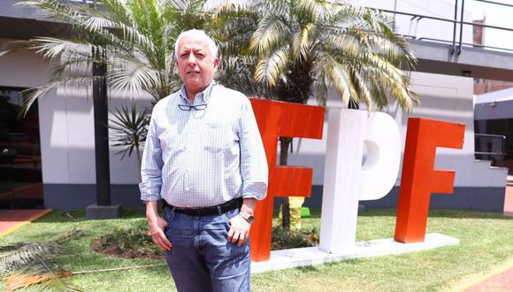Antonio García Pye, gerente de selecciones de la FPF, habló con El Comercio sobre los próximos planes de la Blanquirroja. (Foto: El Comercio)