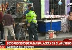 El Agustino: sujetos en moto desatan balacera en exteriores de vivienda