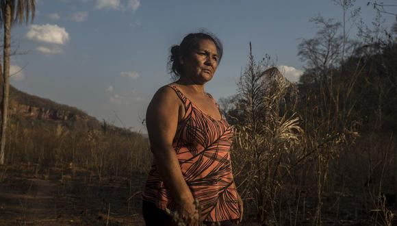 """Ya no pude salvar mis cosas ni mover nada porque ahí mismo yo me quemaba"", relata Palmira Peralta a BBC Mundo. Foto: Marcelo Pérez del Carpio, via BBC Mundo"