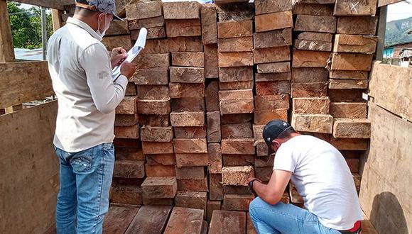 San Martín: incautan más de 15 mil pies tablares de madera de dudosa procedencia. (Foto: Ministerio Público)