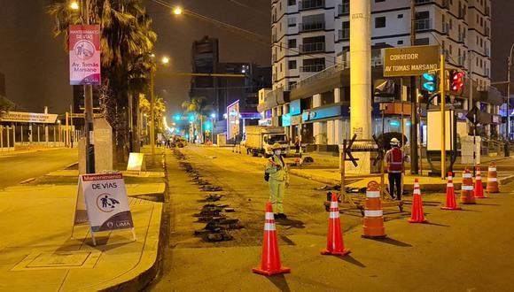 Debido a las obras en la Av. Tomás Marsano, el desvío del tránsito será por la Av. República de Panamá. (Foto: Municipalidad de Lima)