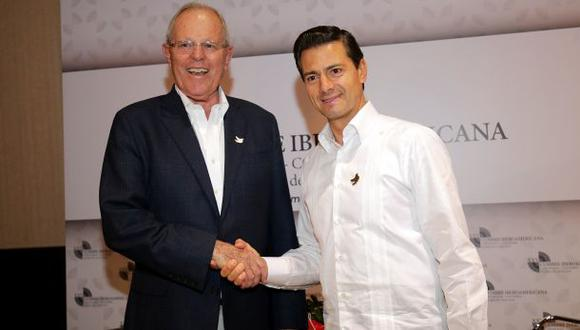 PPK sostuvo reunión bilateral con Enrique Peña Nieto