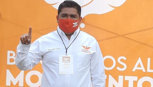 René Tovar, candidato a la alcaldía de Cazones de Herrera, Veracruz (México). (Captura de pantalla/Facebook).