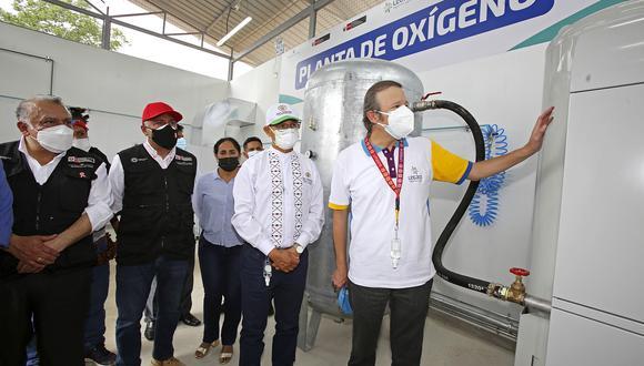 La planta de oxígeno medicinal, adquirida e importada desde Francia, inició sus operaciones en el Hospital II – E de Lamas   Foto: Cortesía Proyecto Legado